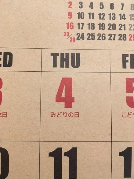 みどりの日の由来は?昭和の日や天皇誕生日との違いとは?